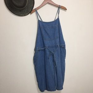 Vintage Strappy Overall Shorts